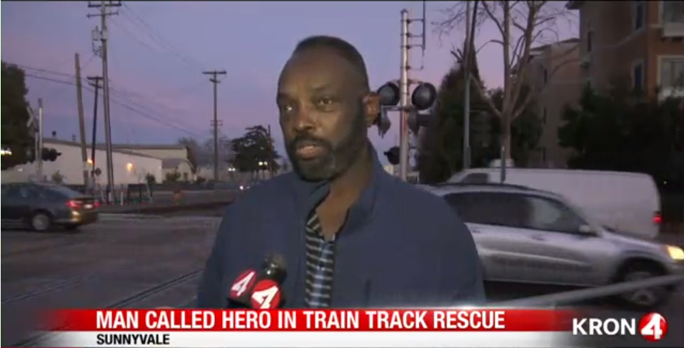 Walter Wilson describes saving a woman from an oncoming train